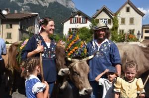 Familie Claudia und Edgar Akermann, Alp Siez